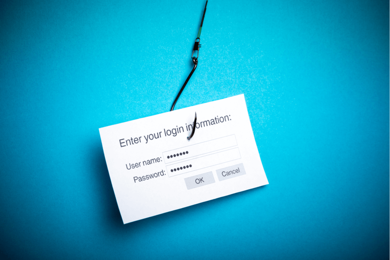 Phishing scams try to steal personal information like passwords and logins